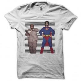Shirt Gnarls Barkley parodie Super Man blanc pour homme et femme
