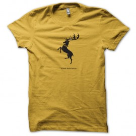 Shirt Le Trône de fer Shirt maison Baratheon Game of thrones jaune pour homme et femme