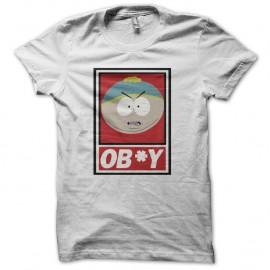 Shirt South Park parodie Cartman ob*y blanc pour homme et femme