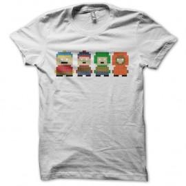 Shirt South Park parodie pixel blanc pour homme et femme
