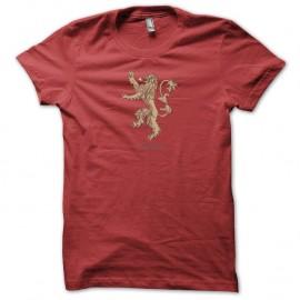 Shirt Le Trône de fer Lannister Game of thrones rouge pour homme et femme