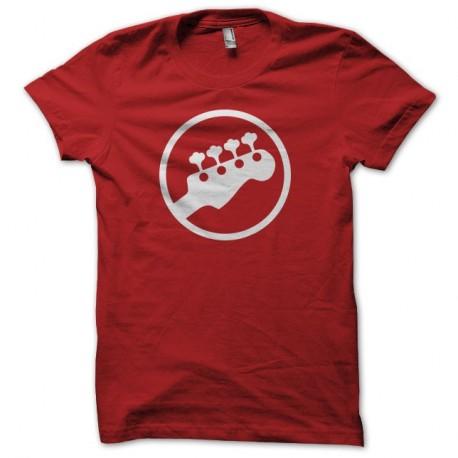 Shirt guitare symbole rouge pour homme et femme