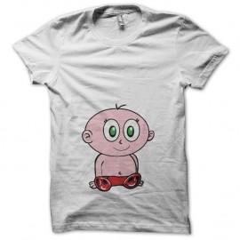 Shirt Baby cartoon clipart blanc pour homme et femme