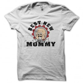 Shirt Best New Mommy 2013 blanc pour homme et femme