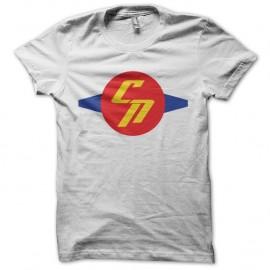 Shirt Chuck Norris comics symbol blanc pour homme et femme