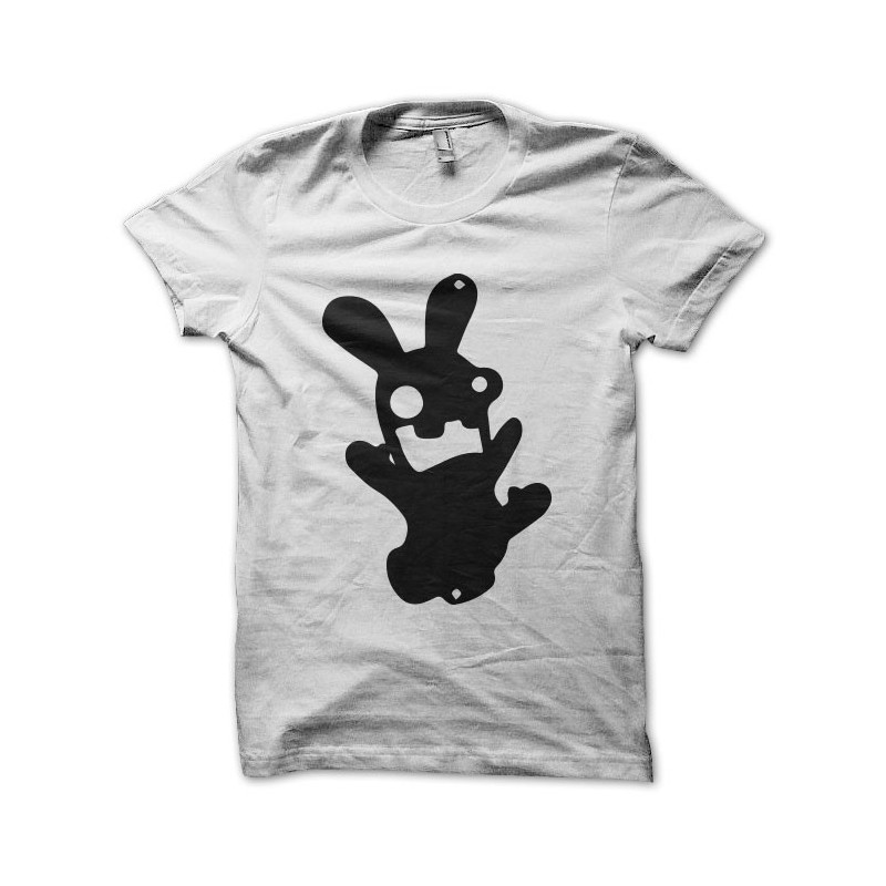 T shirt parodie lapin cr tin gaule blanc - Lapin cretin vampire ...