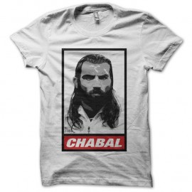 Shirt Chabal parodie Obey rugby blanc pour homme et femme