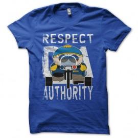 Tee-shirt Respect My Authority Cartman South Park parodie bleu pour homme et femme
