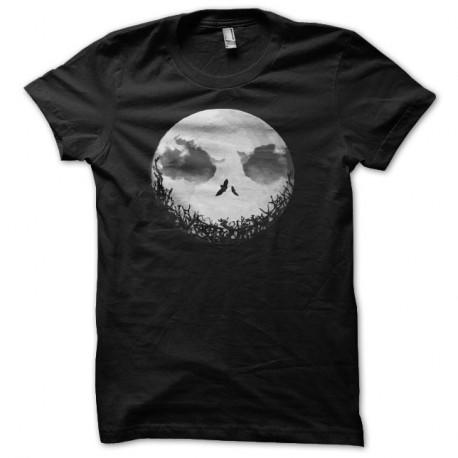 Shirt lune épouvante noir pour homme et femme
