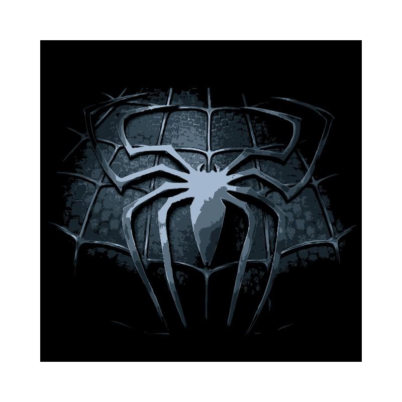 shirt logo spiderman araigne vieillit en noir pour homme et femme