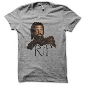 Shirt Spartacus RIP Crixus gris pour homme et femme