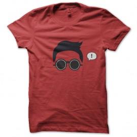 Shirt PSY Gentle Man Gangnam Style Rouge pour homme et femme