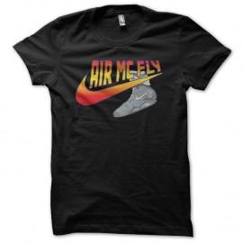 Shirt Retour vers le Futur parodie Nike Air Mc Fly noir pour homme et femme