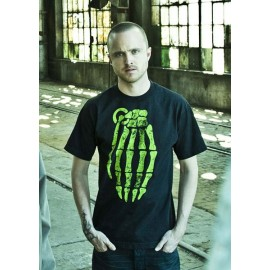Tee-shirt Breaking Bad Pinkman shirt grenade hand skull grungy noir pour homme et femme