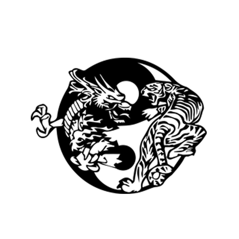 ... > Shirt Tatouage dragon contre tigre blanc pour homme et femme