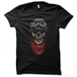 Shirt Crâne biker noir pour homme et femme