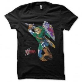 t-shirt the legend of zelda noir pour homme et femme