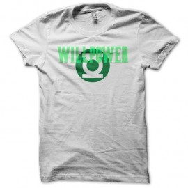 Shirt Green Lantern Willpower justice league basis blanc pour homme et femme