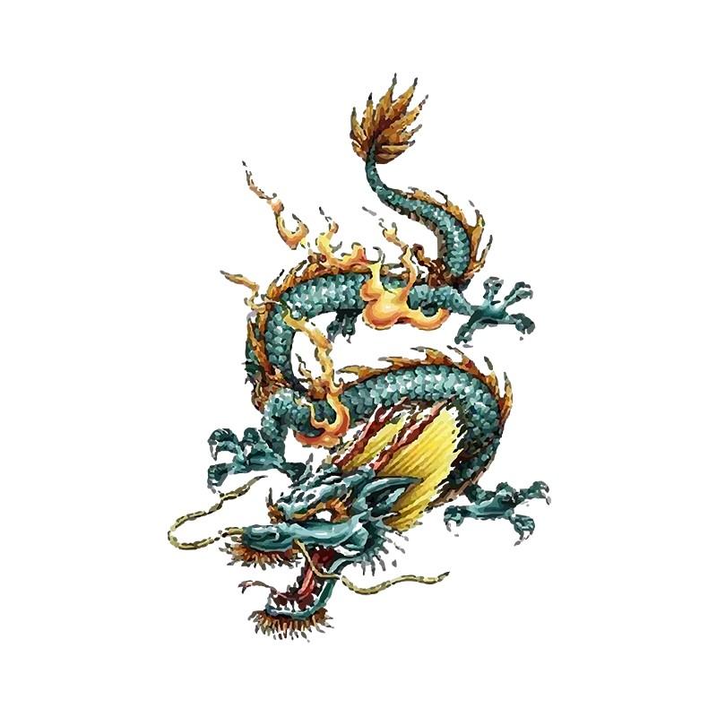 Tatouage dragon homme t shirt tattoo white with tatouage - Tatouage homme dragon ...