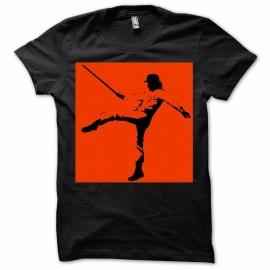 Shirt orange mécanique édition originale noir pour homme et femme