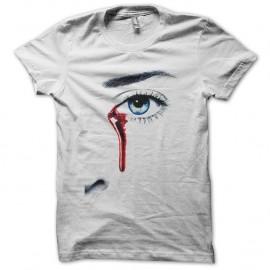 Shirt True Blood larme de sang blanc pour homme et femme