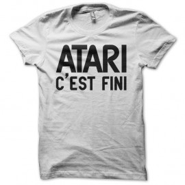 Shirt Atari c'est fini blanc pour homme et femme