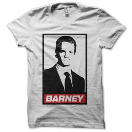 Shirt Barney parodie Obey How I Met Your Mother blanc pour homme et femme
