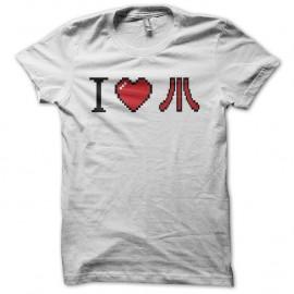 Shirt I love Atari pixel art blanc pour homme et femme