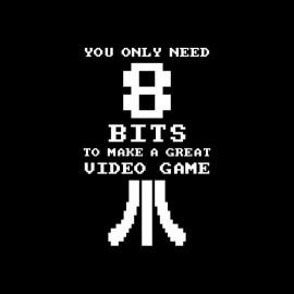 Shirt Great Video Game need 8 bits noir pour homme et femme