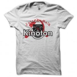 Shirt J'ai une vraie Kinoton parodie La Cité de la Peur Simon Jeremy blanc pour homme et femme