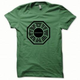 Shirt Dharma version special noir/vert bouteille pour homme et femme