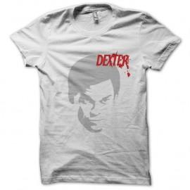 Shirt Dexter silhouette argentée sur blanc pour homme et femme