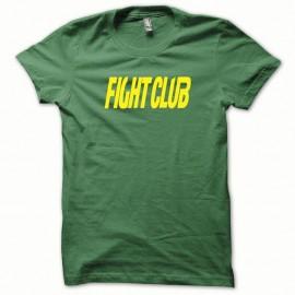 Shirt Fight Club jaune/vert bouteille pour homme et femme