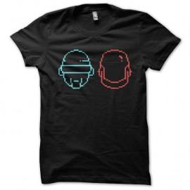Shirt Daft Punk les casques minimalistes noir pour homme et femme