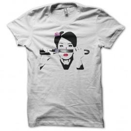 Shirt Lucy Liu portrait dessin Kill Bill blanc pour homme et femme
