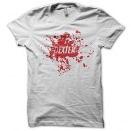 Shirt Dexter logo sur tâche de sang blanc pour homme et femme