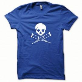 Shirt Jackass minimaliste blanc/bleu royal pour homme et femme