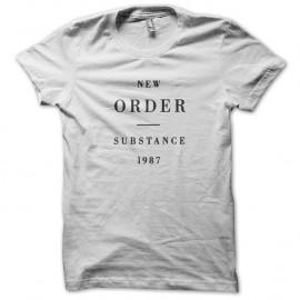Shirt New order Substance Joy division blanc pour homme et femme