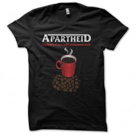 Shirt Les Nuls Nescafé parodie Apartheid noir pour homme et femme