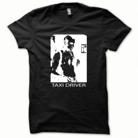 Shirt Taxi Driver blanc/noir pour homme et femme