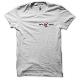 Shirt Nerd Herd blanc pour homme et femme