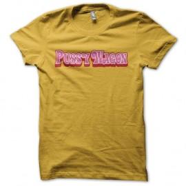 Shirt Pussy Wagon Kill Bill jaune pour homme et femme