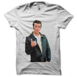 Shirt Henry Winkler Fonzie pop art blanc pour homme et femme