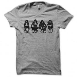 Shirt Led Zeppelin groupe et symboles gris pour homme et femme