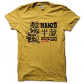 Shirt Hattori Hanzo sushi master parodie jaune pour homme et femme