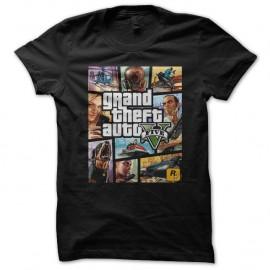 Tee-Shirt Gta 5 noir pour homme et femme