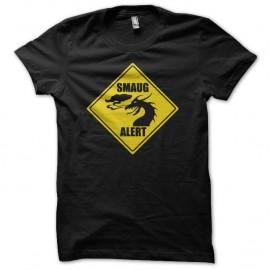 Shirt Smaug Alert panneau noir pour homme et femme