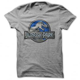 Shirt Jurassic Park logo bleu acier gris pour homme et femme