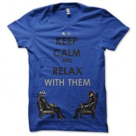 Shirt daft punk bleu pour homme et femme