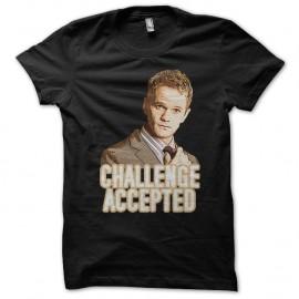 Shirt Challenge Accepted Barney Stinson noir pour homme et femme